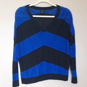 Apt.9 Womens Large Blue Striped Loose Knit Top
